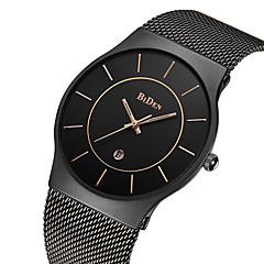 baratos Relógios em Oferta-BIDEN Homens Relógio de Pulso Japanês Calendário / Impermeável Aço Inoxidável Banda Luxo / Vintage / Casual Preta / Dourada