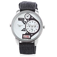 preiswerte Herrenuhren-SHI WEI BAO Herrn Modeuhr / Armbanduhr Chinesisch Duale Zeitzonen Stoff Band Freizeit Schwarz / Kleegrün