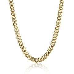 お買い得  ネックレス-女性用 チェーンネックレス  -  ゴールドメッキ レディース, 甘い, ファッション アレルギー対策 ゴールド ネックレス ジュエリー 用途 贈り物, 日常