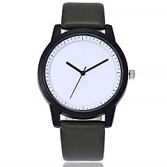 お買い得  大特価腕時計-女性用 リストウォッチ クォーツ 大きめ文字盤 本革 バンド ハンズ カジュアル ファッション ブラック / ブルー / ブラウン - Brown グリーン ブルー 1年間 電池寿命