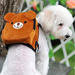 Gatto Cane zaino Animali domestici Supporto Mini Marcia Portatile Ripiegabile Flessibile Monocolore Cartoni animati Bello Arancione