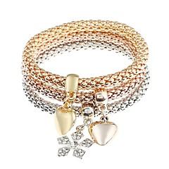 preiswerte Armbänder-Herrn / Damen Bettelarmbänder - Diamantimitate Herz, Schneeflocke Klassisch, Modisch Armbänder Gold Für Alltag
