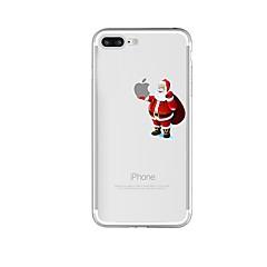 Недорогие Кейсы для iPhone 6 Plus-Кейс для Назначение Apple iPhone 8 iPhone 8 Plus Защита от удара Полупрозрачный С узором Кейс на заднюю панель Композиция с логотипом