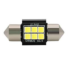 abordables Luces Interiores de Coche-SO.K 4.0 4pcs Coche Bombillas 3W W SMD 3030 lm 6 Luces interiores Todos los Años