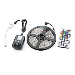 cheap LED Strip Lights-300 LEDs RGB Remote Control / RC Cuttable Dimmable Waterproof Linkable Suitable for Vehicles Self-adhesive Color-Changing AC 100-240V V