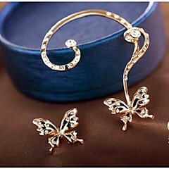 preiswerte Ohrringe-Damen Synthetischer Diamant Ohrstecker / Ohr-Stulpen - Diamantimitate Schmetterling Süß Gold Für Party / Alltag