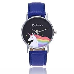 preiswerte Damenuhren-Damen Armbanduhr Chinesisch Armbanduhren für den Alltag / Cool PU Band Freizeit / Böhmische Schwarz / Weiß / Blau / Ein Jahr / Jinli 377