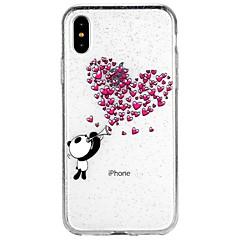 Χαμηλού Κόστους Θήκες iPhone 7-tok Για Apple iPhone X iPhone 8 iPhone 8 Plus iPhone 7 iPhone 7 Plus iPhone 6 iPhone 6 Plus Ημιδιαφανές Με σχέδια Πίσω Κάλυμμα Καρδιά