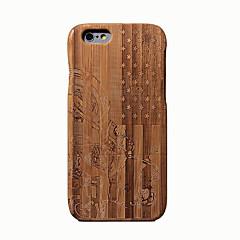 Недорогие Кейсы для iPhone 6-Кейс для Назначение iPhone 6s iPhone 6 Apple iPhone 6 Защита от удара Кейс на заднюю панель Имитация дерева Твердый Бамбук для iPhone 6s
