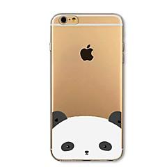 Недорогие Кейсы для iPhone-Кейс для Назначение Apple iPhone 8 iPhone 8 Plus Защита от удара Полупрозрачный С узором Кейс на заднюю панель Панда Мягкий ТПУ для