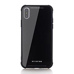 Недорогие Кейсы для iPhone-Кейс для Назначение Apple iPhone X iPhone 8 Защита от удара С узором Кейс на заднюю панель Сплошной цвет Твердый Закаленное стекло для