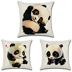 tanie Poduszki-komplet 3 szt. kawaii panda drukowanie poszewka na poduszkę 45 * 45cm poszewka na poduszkę osobowość poszewka na poduszkę