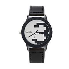 Herrn Armbanduhren für den Alltag Armbanduhr Chinesisch Quartz Armbanduhren für den Alltag PU Band Freizeit Cool Schwarz Braun Beige