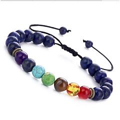 preiswerte Armbänder-Damen Onyx Türkis Obsidian Strang-Armbänder - Edelstein Armbänder Braun / Blau / Dark Gray Für Geburtstag Alltag