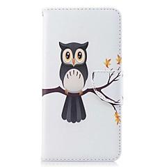お買い得  その他のケース-ケース 用途 OnePlus カードホルダー ウォレット スタンド付き フリップ 磁石バックル パターン フルボディーケース フクロウ ハード PUレザー のために OnePlus 5T