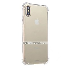 For iPhone X iPhone 8 iPhone 8 Plus iPhone 6 iPhone 6 Plus Case Cover Shockproof Transparent Back Cover Case Solid Color Soft TPU for