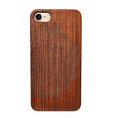 Недорогие Кейсы для iPhone-Кейс для Назначение Apple iPhone 6 iPhone 6 Plus Защита от удара Кейс на заднюю панель Цветы Твердый деревянный для iPhone 6s Plus iPhone