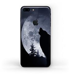 Χαμηλού Κόστους Αυτοκόλλητα για iPhone-1 τμχ Αυτοκόλλητο Καλύμματος για Προστασία από Γρατζουνιές Μαύρο & Άσπρο Μοτίβο Ματ PVC iPhone 7 Plus