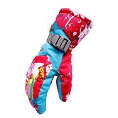 お買い得  スキー手袋-ウインター スキーグローブ 女性用 フルフィンガー 保温 防風 横滑り防止 耐久 ポリ&コットン混 キャンピング&ハイキング サイクリング スキー キャンプ/ハイキング/ケイビング オートバイ 冬