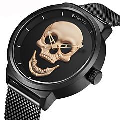 Herrn Kinder Modeuhr Armbanduhr Einzigartige kreative Uhr Japanisch Quartz Chronograph Wasserdicht Armbanduhren für den Alltag Totenkopf