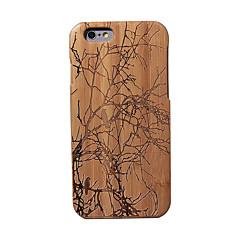 Недорогие Кейсы для iPhone-Кейс для Назначение iPhone 6s iPhone 6 Apple iPhone 6 Защита от удара Кейс на заднюю панель Пейзаж Твердый Бамбук для iPhone 6s iPhone 6