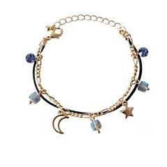 billige Armbånd-Dame Charm-armbånd Kvadratisk Zirconium Klassisk Mode Zirkonium Legering MOON Stjerne Smykker Daglig
