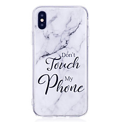 billige iPhone 6 Plus Plus-etuier-Etui Til Apple iPhone X iPhone 8 Plus IMD Bagcover Marmor Blødt TPU for iPhone X iPhone 8 Plus iPhone 8 iPhone 7 Plus iPhone 7 iPhone 6s
