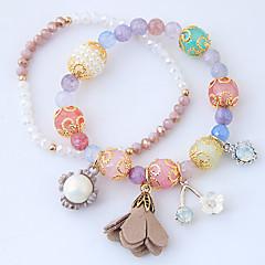 preiswerte Armbänder-Damen Bettelarmbänder / Strang-Armbänder - Harz Blume Zierlich, Europäisch, Modisch Armbänder Blau / Rosa Für Party / Alltag