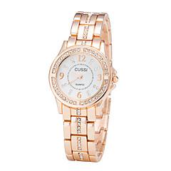 preiswerte Tolle Angebote auf Uhren-Damen Quartz Armbanduhr Chinesisch Armbanduhren für den Alltag Edelstahl Band Freizeit Elegant Modisch Silber Gold Rotgold