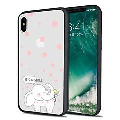 Недорогие Кейсы для iPhone X-Кейс для Назначение Apple iPhone X iPhone 8 Plus С узором Задняя крышка Слон Животное Мультипликация Мягкий TPU для iPhone X iPhone 8
