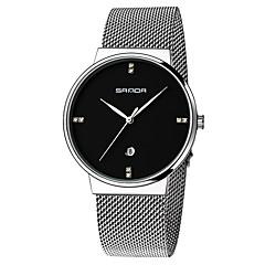 お買い得  レディース腕時計-女性用 リストウォッチ ユニークなクリエイティブウォッチ ダミー ダイアモンド 腕時計 日本産 クォーツ カレンダー 耐水 合金 バンド Elegant ブラック 白