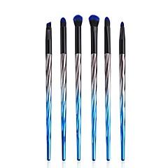 hesapli -6 parça Fırça Setleri Allık Fırçası Pudra Fırçası Fondöten Fırçası Sentetik Saç Çevre-dostu Profesyonel Yumuşak Tam Kaplama sentetik