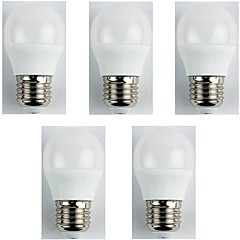 5pcs 4W E27 LED Globe Bulbs G45 6 leds SMD 3528 Warm White 310lm 3000K AC 180-240V
