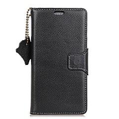 olcso Tokok-Case Kompatibilitás OnePlus Kártyatartó Pénztárca Flip Teljes védelem Tömör szín Kemény Valódi bőr mert OnePlus 5T One Plus 5