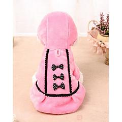 abordables Ropa para Gato-Gato Perro Vestidos Ropa para Perro Lazo Negro Rosa Lana Polar Disfraz Para mascotas Vestidos y faldas Casual/Diario