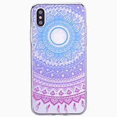 tanie Etui do iPhone 6 Plus-Kılıf Na Apple iPhone X iPhone 8 iPhone 6 iPhone 6 Plus iPhone 7 Plus iPhone 7 Wzór Czarne etui Mandala Twarde PC na iPhone X iPhone 8