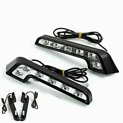 Недорогие Дневные фары-2pcs Лампы 6W Высокомощный LED 6 Фары дневного света For Mercedes-Benz C200 / C180 / Classic Универсальный
