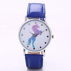 preiswerte Herrenuhren-Herrn Damen Quartz Armbanduhr Chinesisch N / A PU Band Freizeit Minimalistisch Schwarz Weiß Blau Rot Orange Grün Rosa Lila Khaki