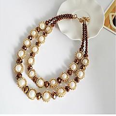 preiswerte Halsketten-Damen Kristall Ketten - Tropfen Modisch Kaffee, Rot, Hellblau Modische Halsketten 1 Für Party, Alltag