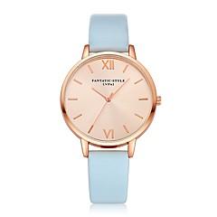 preiswerte Damenuhren-Damen Quartz Armbanduhr Chinesisch Armbanduhren für den Alltag PU Band Luxus Retro Freizeit Schwarz Weiß Blau Rot Braun Rosa Beige Rose