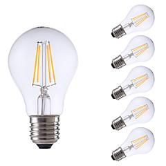 お買い得  LED 電球-GMY® 6本 4W 400lm E27 フィラメントタイプLED電球 A60(A19) 4 LEDビーズ COB LEDライト 温白色 220-240V