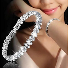 Women's Chain Bracelet Cubic Zirconia Fashion Korean Alloy Circle Jewelry Gift Date