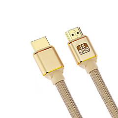 Cwxuan HDMI 2.0 Kabel, HDMI 2.0 to HDMI 2.0 Kabel Han - Han 4K*2K Forgyldt kobber 1.8M (6ft)