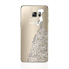 voordelige Galaxy S6 Edge Hoesjes / covers-hoesje Voor Samsung Galaxy S8 Plus S8 Patroon Achterkantje Sexy dame Zacht TPU voor S8 S8 Plus S7 edge S7 S6 edge plus S6 edge S6