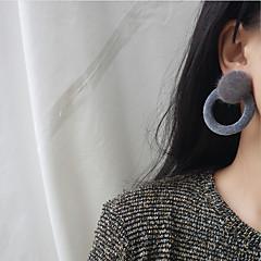 preiswerte Ohrringe-Damen Ohrstecker Einfach Europäisch Modisch Stoff Aleación Kreisform Schmuck Normal