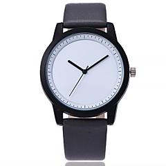 preiswerte Tolle Angebote auf Uhren-Damen Armbanduhr Chinesisch Großes Ziffernblatt Echtes Leder Band Freizeit / Modisch Schwarz / Blau / Braun / Ein Jahr