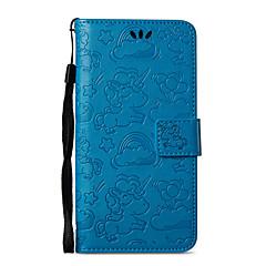 Недорогие Чехлы и кейсы для Nokia-Кейс для Назначение Nokia Nokia 8 / Nokia 6 Кошелек / Бумажник для карт / со стендом Чехол единорогом Твердый Кожа PU для Nokia 8 / Nokia 6 / Nokia 5