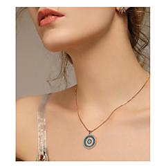 お買い得  ネックレス-女性用 ペンダントネックレス  -  エスニック, ファッション ライトブルー ネックレス ジュエリー 1 用途 日常, お出かけ