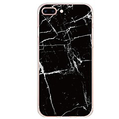 Недорогие Кейсы для iPhone 7-Кейс для Назначение Apple iPhone X iPhone 8 Plus С узором Кейс на заднюю панель Слова / выражения Мрамор Мягкий ТПУ для iPhone X iPhone 8