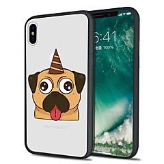 Недорогие Кейсы для iPhone 5-Кейс для Назначение Apple iPhone X iPhone 8 Plus С узором Кейс на заднюю панель С собакой Мягкий ТПУ для iPhone X iPhone 8 Pluss iPhone 8